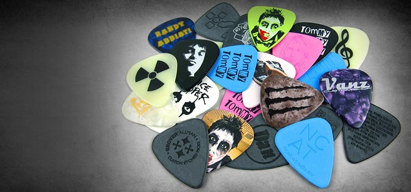 Main characteristics of guitar picks
